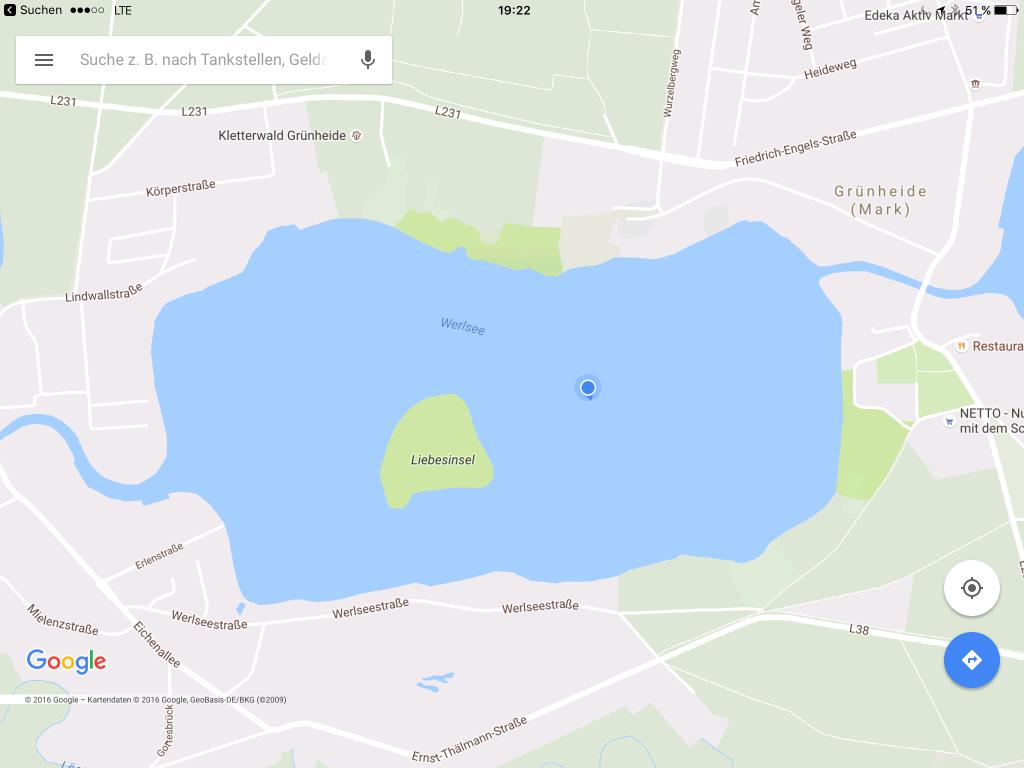 Mitten im See ankern wir heute Nacht?